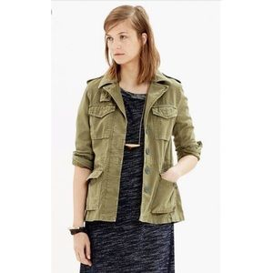 Madewell Outbound Green Jacket military